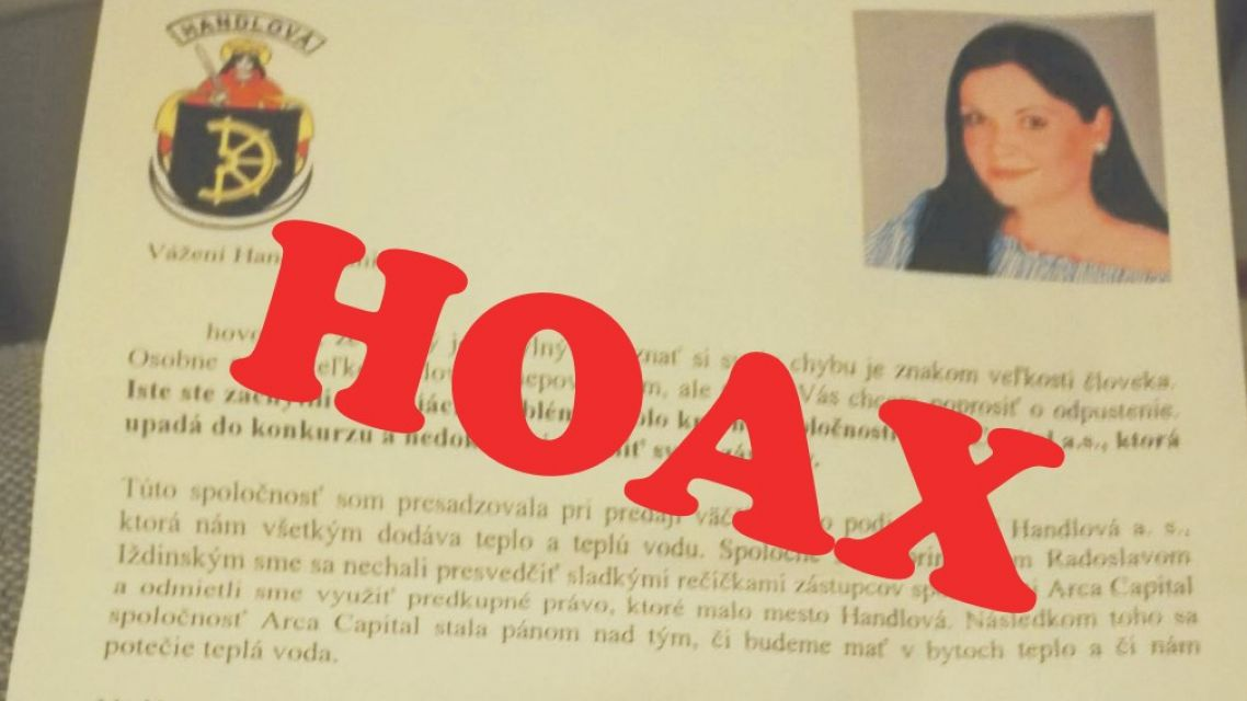 Falošný list primátorky už preveruje polícia