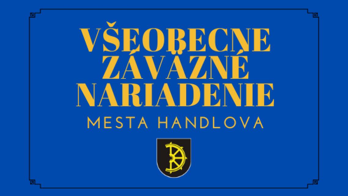 VZN č. 1/2020 o úhrade za poskytovanie vybraných druhovsociálnych služieb na území mesta Handlová