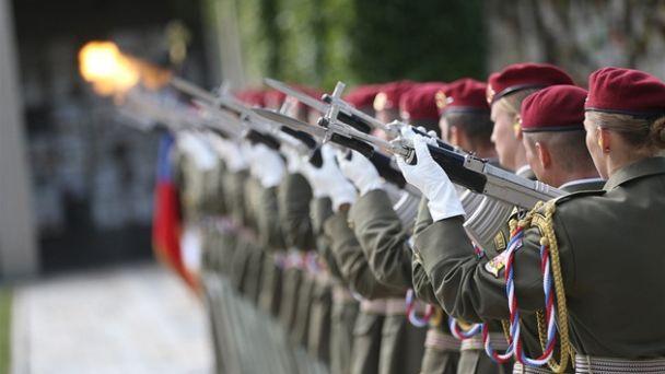 Čestná salva pri príležitosti vojenského pohrebu