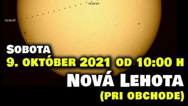 Príďte dnes pozorovať Slnko na Novú Lehotu